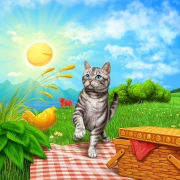 Friskies - Chef's Blend cat food. Illustrated for focus group only, and not published.