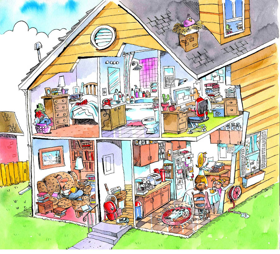messy house clipart - photo #12