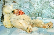 Claire-Fletcher-Child-Sleeping-on-Bear