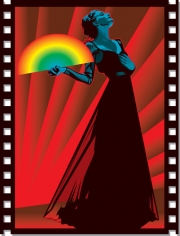 Guy Parsons - Woman with Rainbow Fan